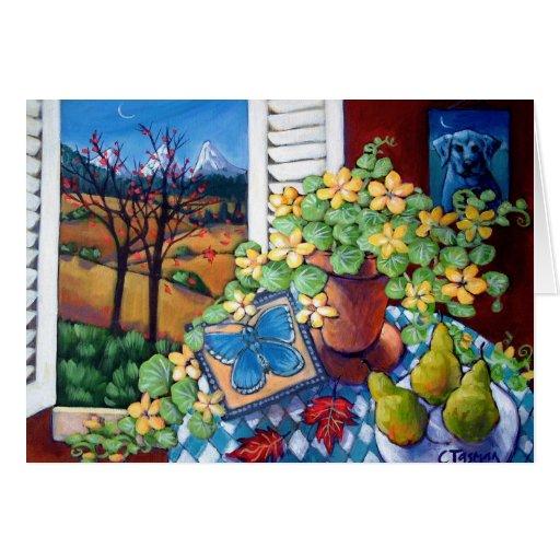 Adonis azul tarjeta de felicitación
