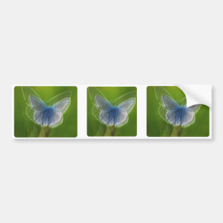 Adonis Blue Butterfly Blurred Bumper Sticker