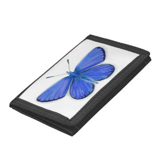 Adonis Blue Butterfly Watercolour Painting Artwork Trifold Wallet