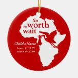 Adopción África digno del ornamento de la espera Ornato