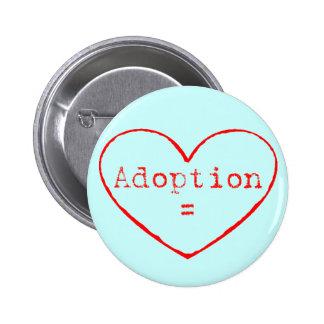 Adopción = amor en rojo pins