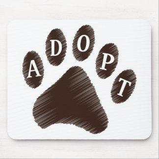 Adopción animal tapetes de ratón