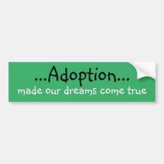 Adopción Bumpersticker Pegatina Para Auto
