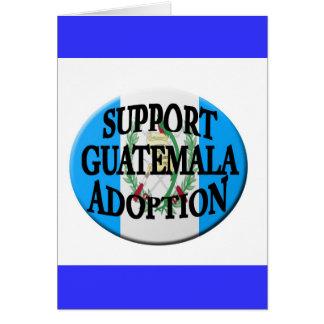 adopción de Guatemala de la ayuda Tarjeta De Felicitación