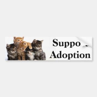 Adopción de la ayuda pegatina para auto