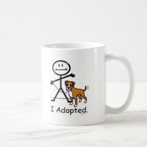 Adopción del boxeador taza