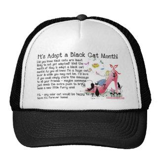 Adopción del gato negro gorro