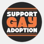 Adopción del gay de la ayuda pegatinas redondas