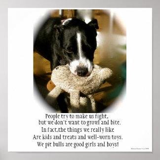 Adopción del mascota del rescate de la raza del pe póster