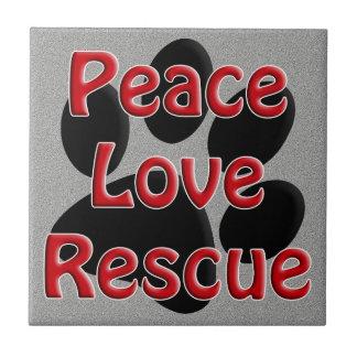 Adopción del mascota del rescate del amor de la pa azulejos