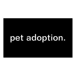 Adopción del mascota tarjeta personal