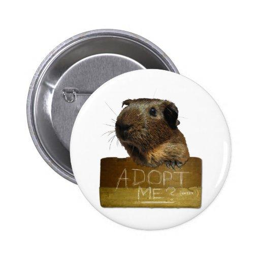 Adopción del rescate del conejillo de Indias Pin Redondo 5 Cm