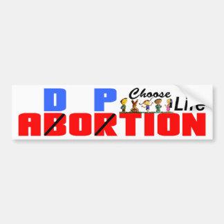 Adopción: ¡Elija la vida! Pegatina Para Auto