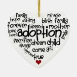 Adopción-palabras Adorno Navideño De Cerámica En Forma De Corazón
