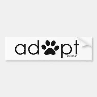 Adopt #2 bumper sticker