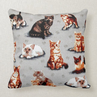 Adopt A Animal Shelter Cat Throw Pillow