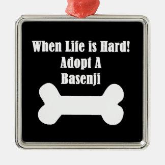 Adopt A Basenji Metal Ornament