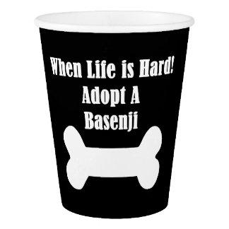Adopt A Basenji Paper Cup