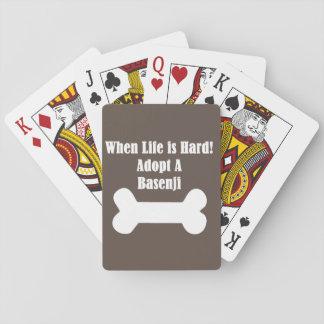 Adopt A Basenji Playing Cards