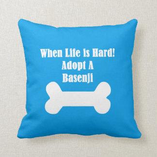Adopt A Basenji Throw Pillow