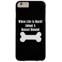 Case-Mate Barely There iPhone 6 Plus Case with Basset Hound Phone Cases design