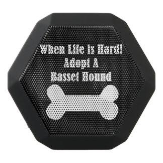 Adopt A Basset Hound Black Bluetooth Speaker