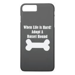Case-Mate Tough iPhone 7 Plus Case with Basset Hound Phone Cases design