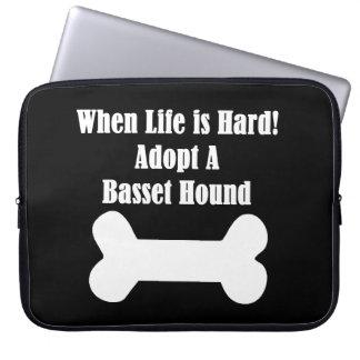 Adopt A Basset Hound Laptop Sleeve