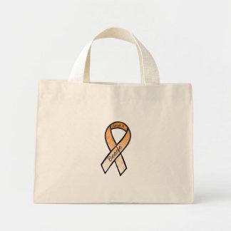 Adopt a Beagle Orange Awareness Ribbon Canvas Bag