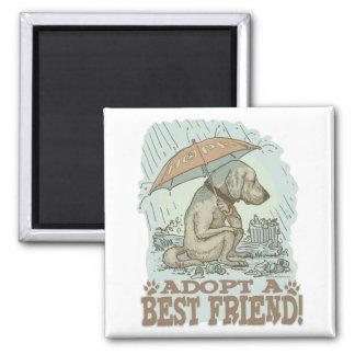 Adopt a Best Friend by Mudge Studios Magnet