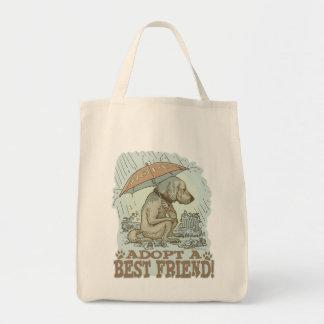 Adopt a Best Friend by Mudge Studios Tote Bag