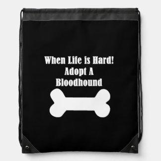Adopt A Bloodhound Drawstring Bag