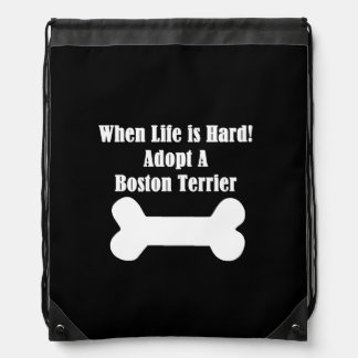 Adopt A Boston Terrier Drawstring Backpack