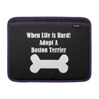 Adopt A Boston Terrier MacBook Sleeve