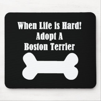 Adopt A Boston Terrier Mouse Pad