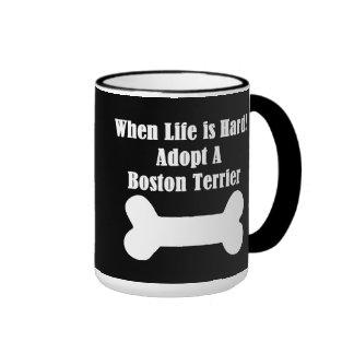 Adopt A Boston Terrier Ringer Mug