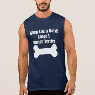 Adopt A Boston Terrier Sleeveless Shirt