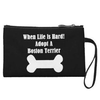 Adopt A Boston Terrier Wristlet