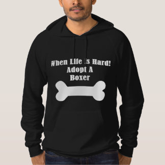 Adopt A Boxer Hooded Pullover
