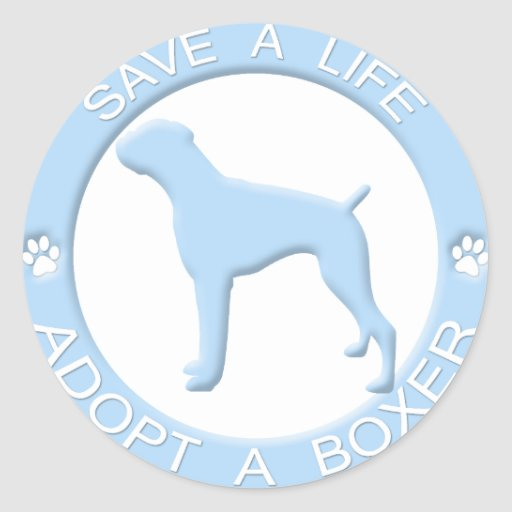 Adopt a Boxer Stickers