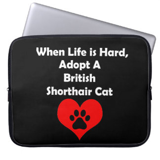 Adopt A British Shorthair Cat Computer Sleeve