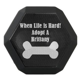 Adopt A Brittany Black Bluetooth Speaker