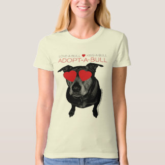 """Adopt-A-Bull"" Downtown Dog Rescue Fundraiser T-shirt"