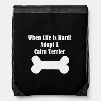 Adopt A Cairn Terrier Drawstring Backpack