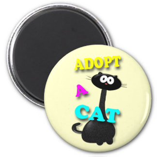 Adopt a Cat 2 Inch Round Magnet