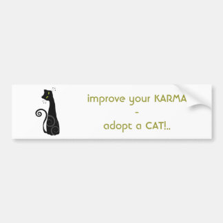 Adopt a Cat Bumper Sticker