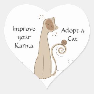 Adopt a Cat Heart Sticker