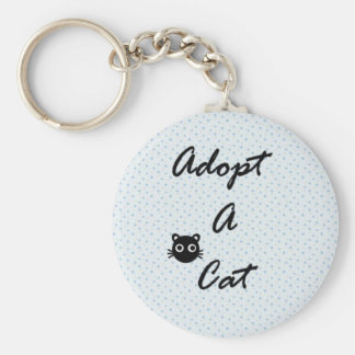 Adopt A Cat Keychain