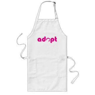 ADOPT A CAT. LONG APRON