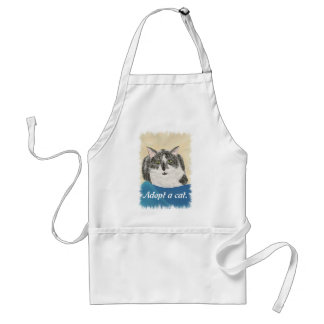 Adopt a cat promotion Aprons